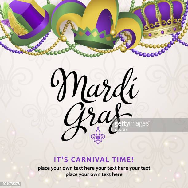 mardi gras party hats - jester's hat stock illustrations, clip art, cartoons, & icons