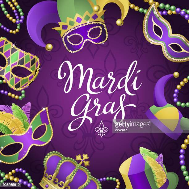Mardi Gras Party Masks & Hats