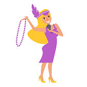 Mardi Gras woman. Vector