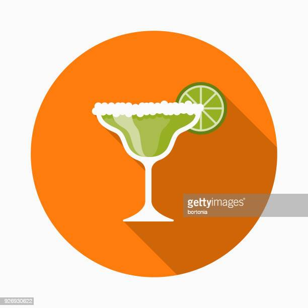 margarita flat design mexico icon with side shadow - margarita stock illustrations