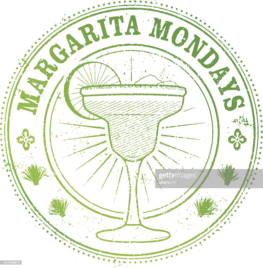 Margarita Monday Stamp : stock illustration