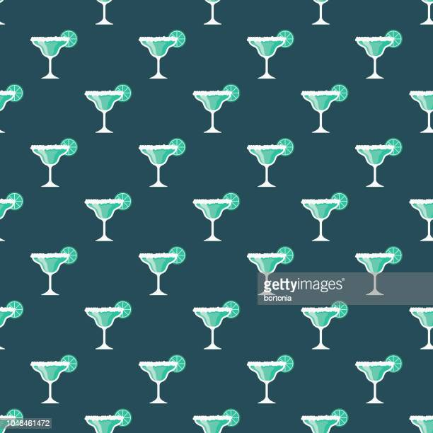 margarita summer seamless pattern - margarita stock illustrations