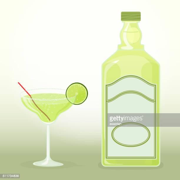 ilustrações, clipart, desenhos animados e ícones de margarita com tequila - tequila drink