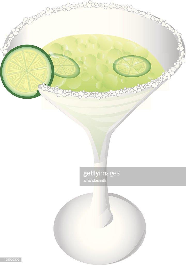 Margarita with Salt : stock illustration