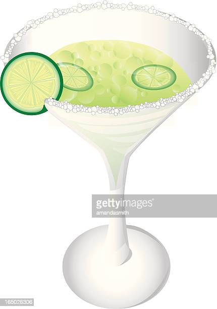 margarita with salt - tequila drink stock illustrations, clip art, cartoons, & icons