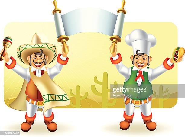 マリアッチ、メキシコ料理を、シェフのバナー