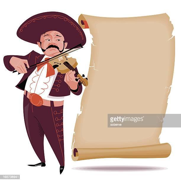 ilustraciones, imágenes clip art, dibujos animados e iconos de stock de mariachi banner#1 - mariachi