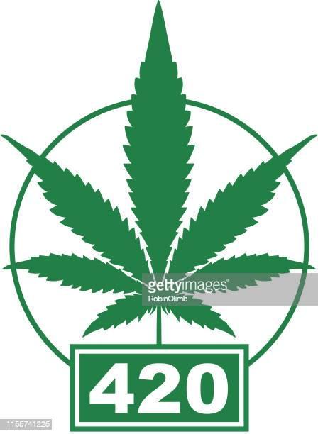 marijuana 420 icon - hashish stock illustrations, clip art, cartoons, & icons