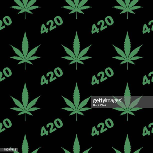 ilustrações, clipart, desenhos animados e ícones de marijuana 420 padrão sem emenda - intoxicação por cannabis