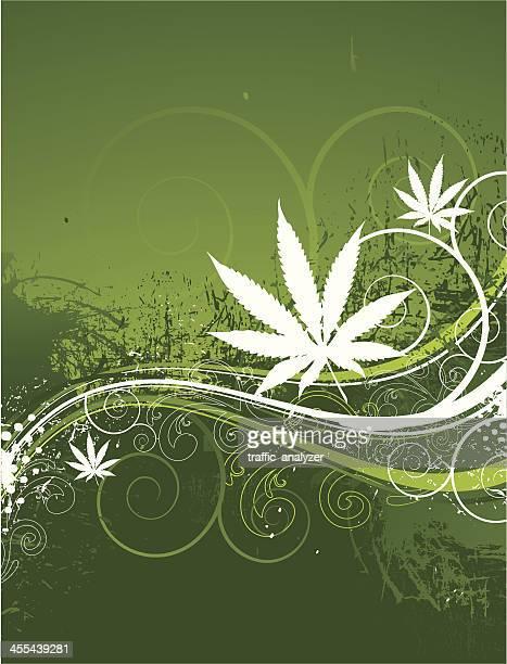 マリファナ背景 - 合法化点のイラスト素材/クリップアート素材/マンガ素材/アイコン素材