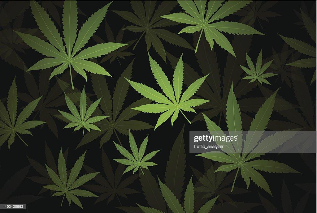 Marijuana background : stock illustration