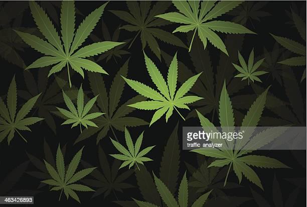 marijuana background - cannabis plant stock illustrations, clip art, cartoons, & icons