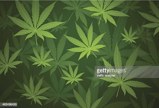 marijuana background - cannabis narcotic stock illustrations, clip art, cartoons, & icons