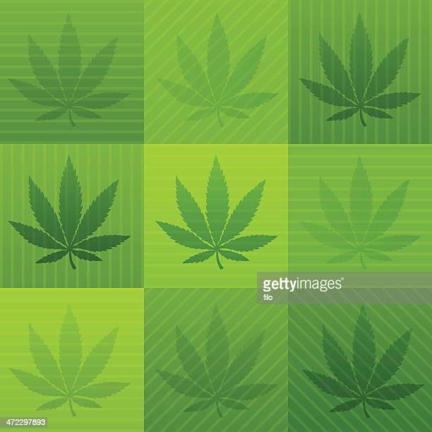 marijuana background - hashish stock illustrations, clip art, cartoons, & icons