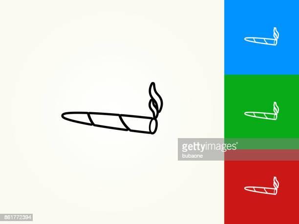 marijuana black stroke linear icon - cannabis narcotic stock illustrations, clip art, cartoons, & icons