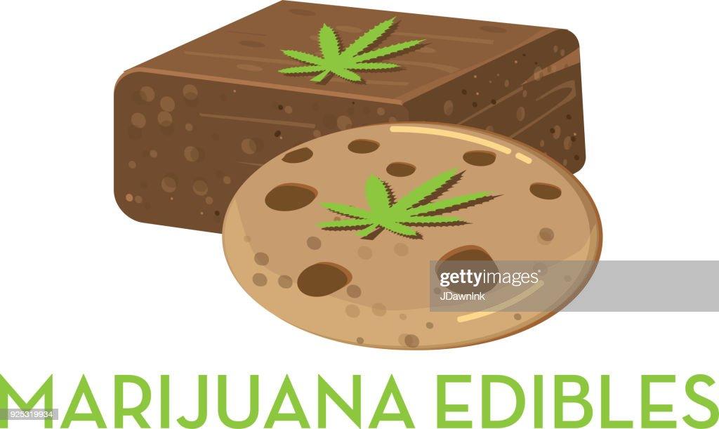 Marijuana cannabis edible : Stock Illustration