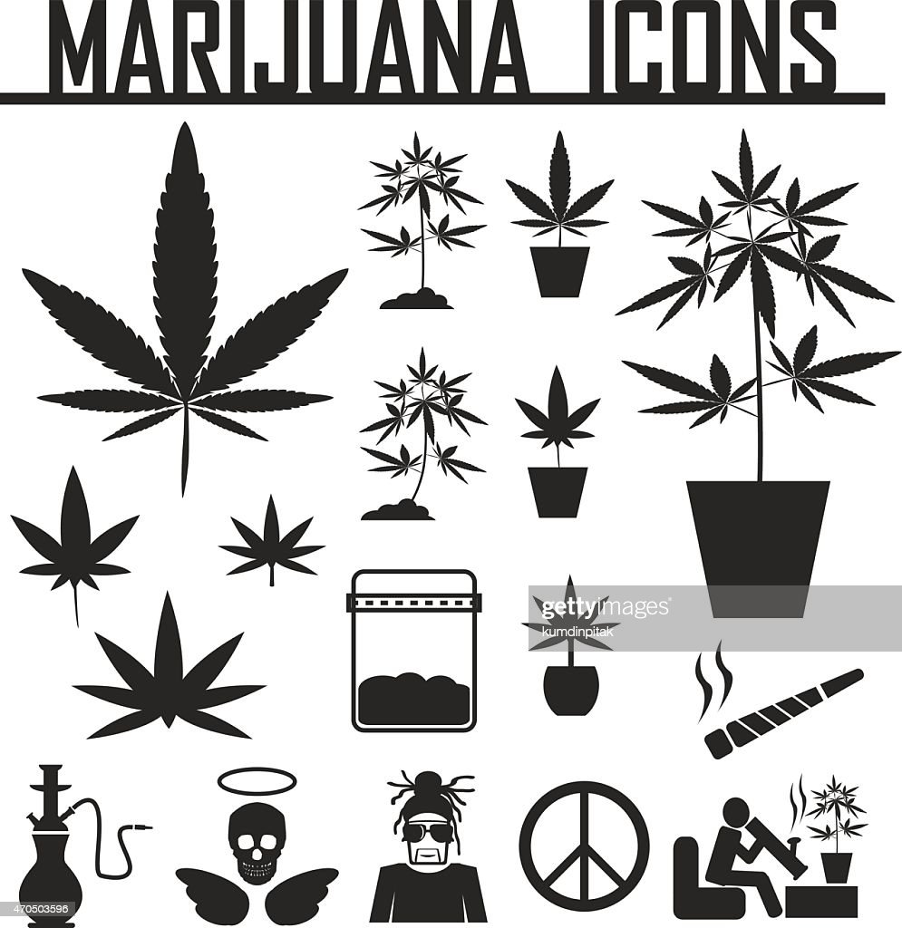 marijuana, Cannabis icons. vector illustration eps 10.