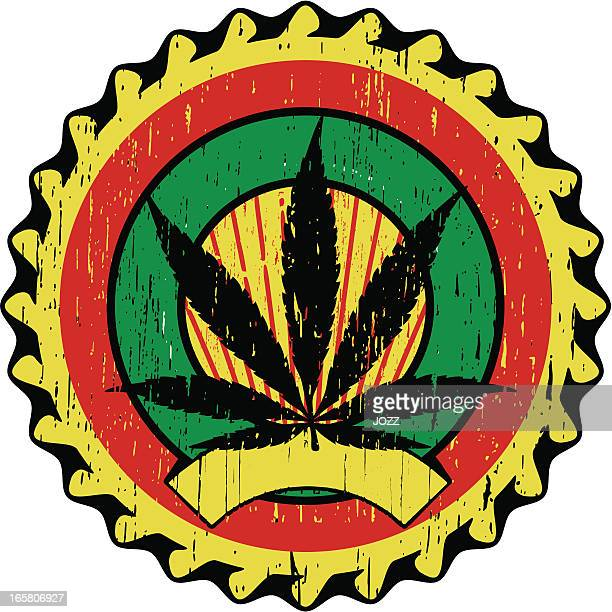marijuana cap - rastafarian stock illustrations, clip art, cartoons, & icons