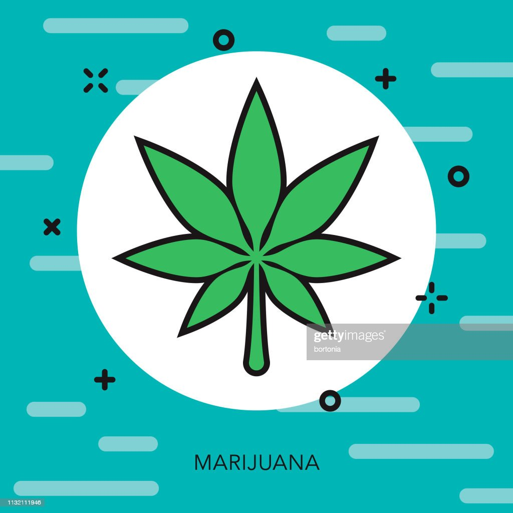 Marijuana Drugs Thin Line Icon : Stock Illustration