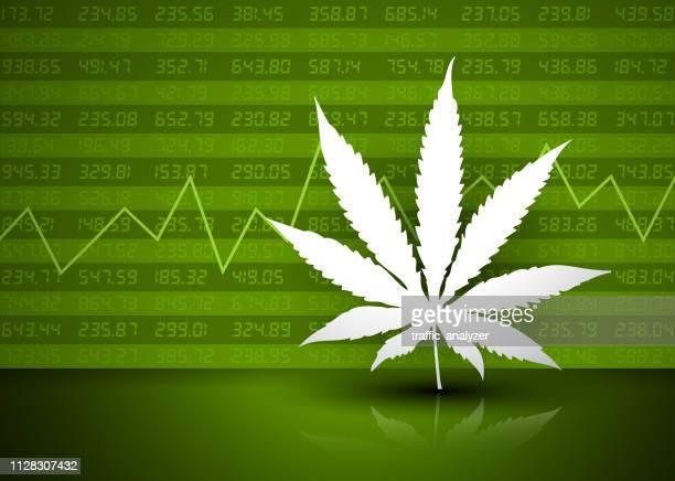 marijuana - financial background - hashish stock illustrations, clip art, cartoons, & icons