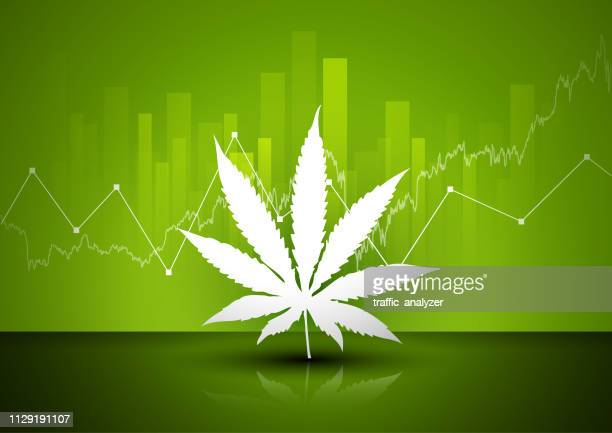 marijuana - financial background - marijuana leaf text symbol stock illustrations, clip art, cartoons, & icons