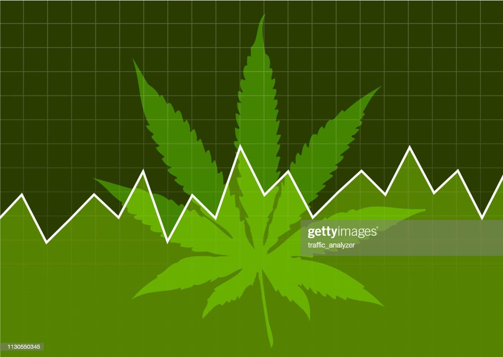 Marijuana - financial background : Stock Illustration