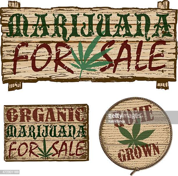 marijuana for sale - signs - marijuana leaf text symbol stock illustrations, clip art, cartoons, & icons
