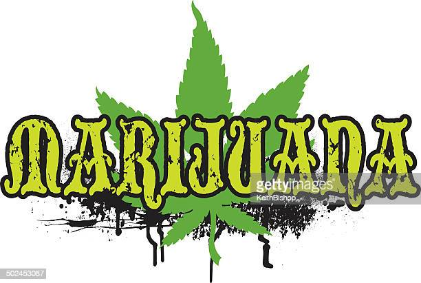 Marijuana Grunge Graphic