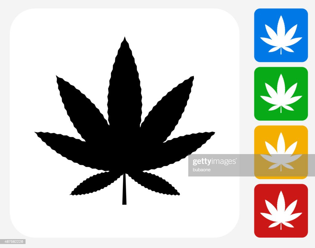 Marijuana Icon Flat Graphic Design : stock illustration