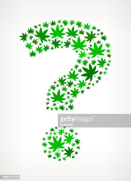 marijuana icon pattern in the form of a question mark