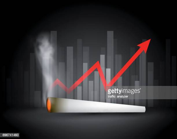 marijuana joint - financial background - hashish stock illustrations, clip art, cartoons, & icons