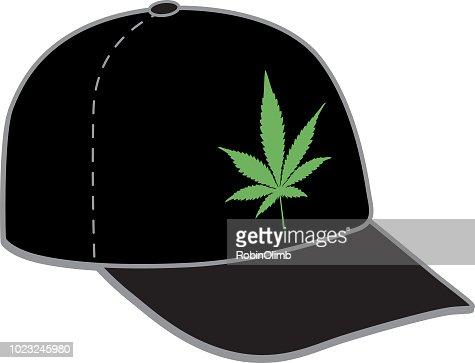 Marijuana Leaf Baseball Cap High-Res Vector Graphic ...