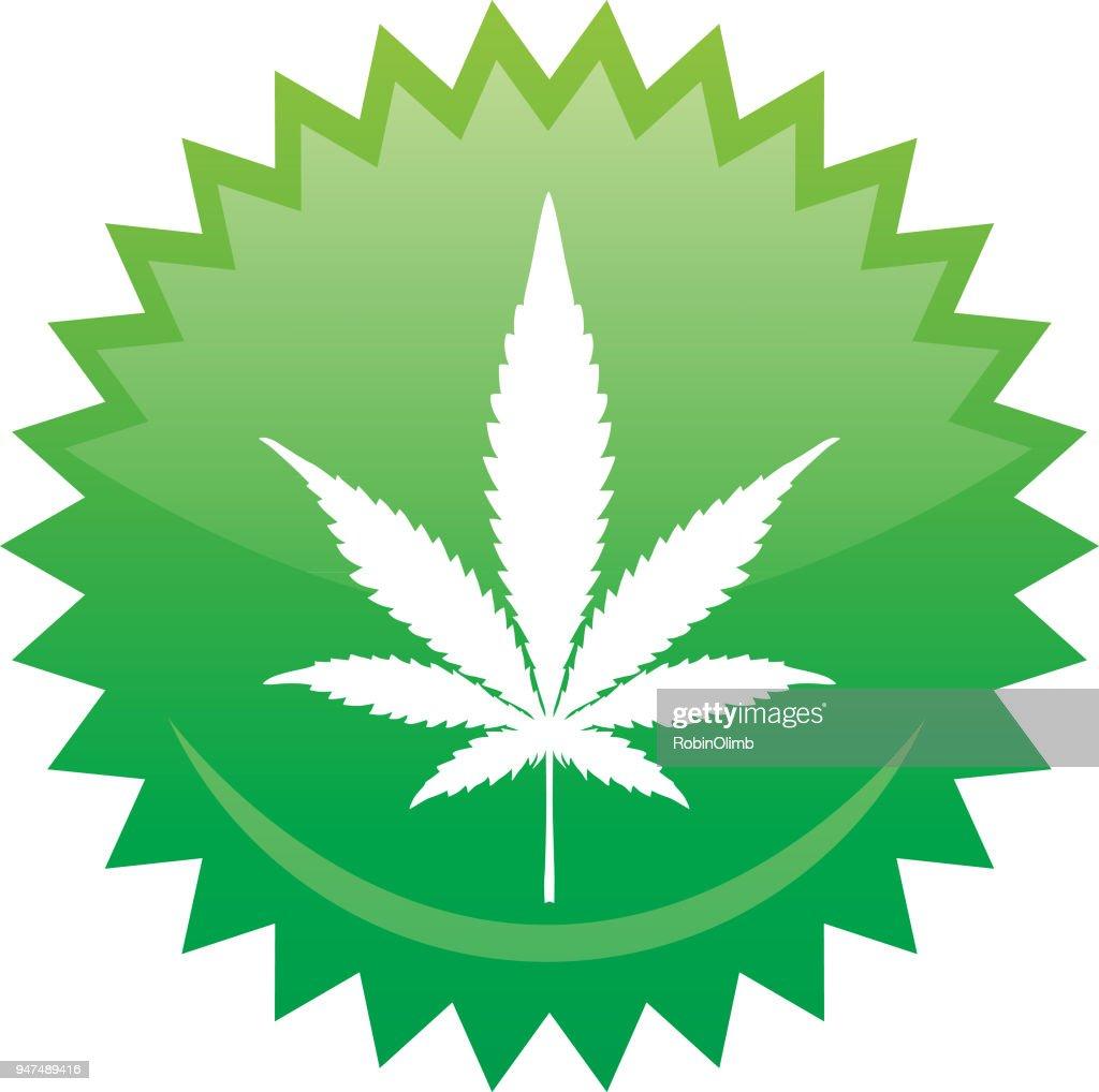 Emblema de la hoja de marihuana : Ilustración de stock