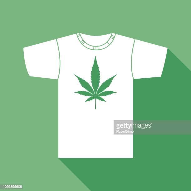 marijuana leaf t shirt - hashish stock illustrations, clip art, cartoons, & icons