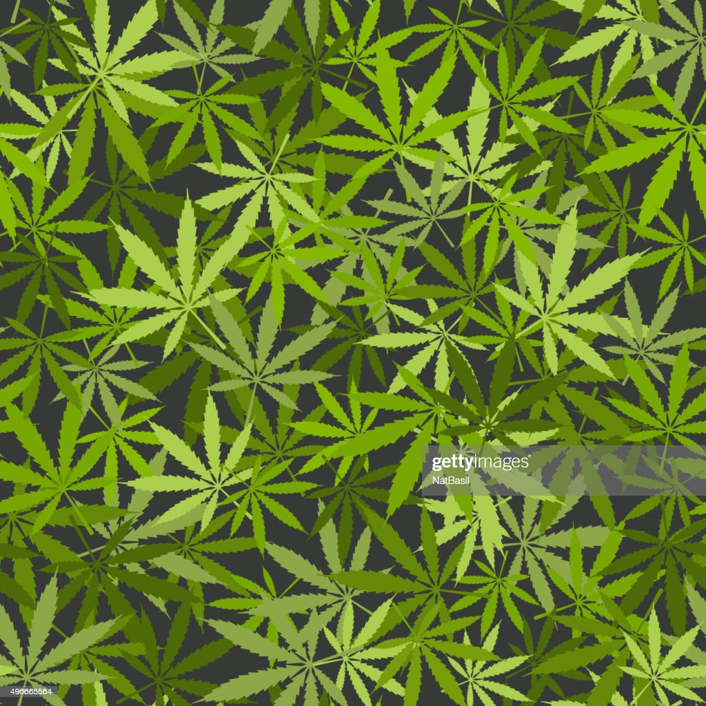 marijuana leaves seamless background