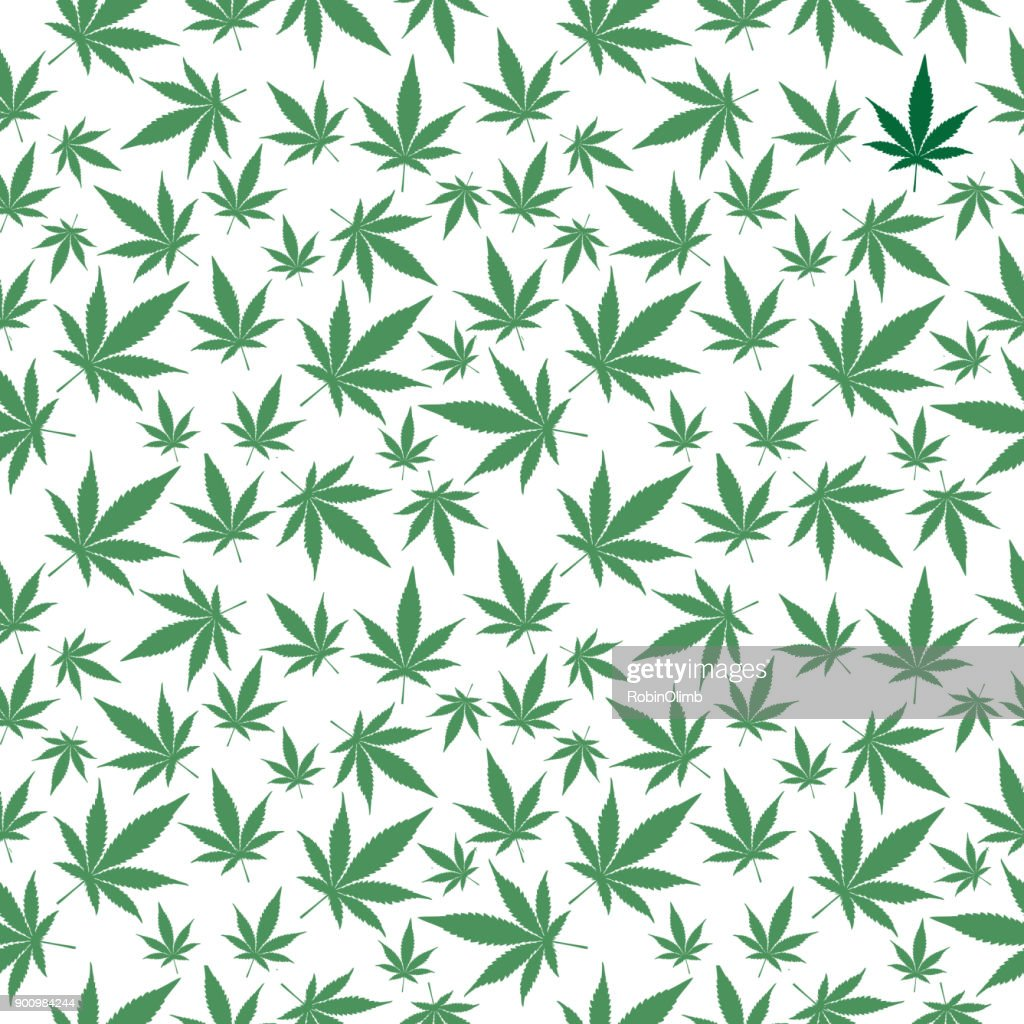 Marijuana Leaves Seamless Pattern : stock illustration