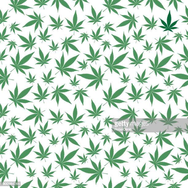 Marijuana Leaves Seamless Pattern