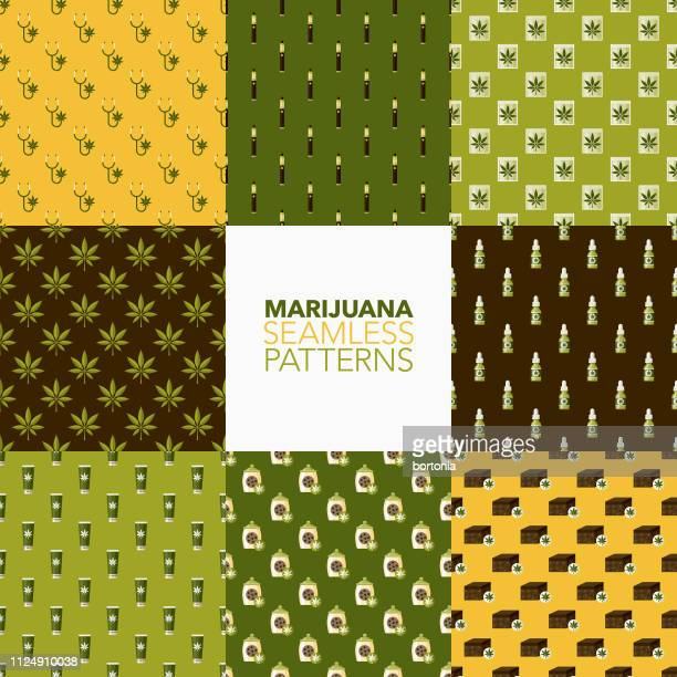 marijuana patterns - brownie stock illustrations, clip art, cartoons, & icons