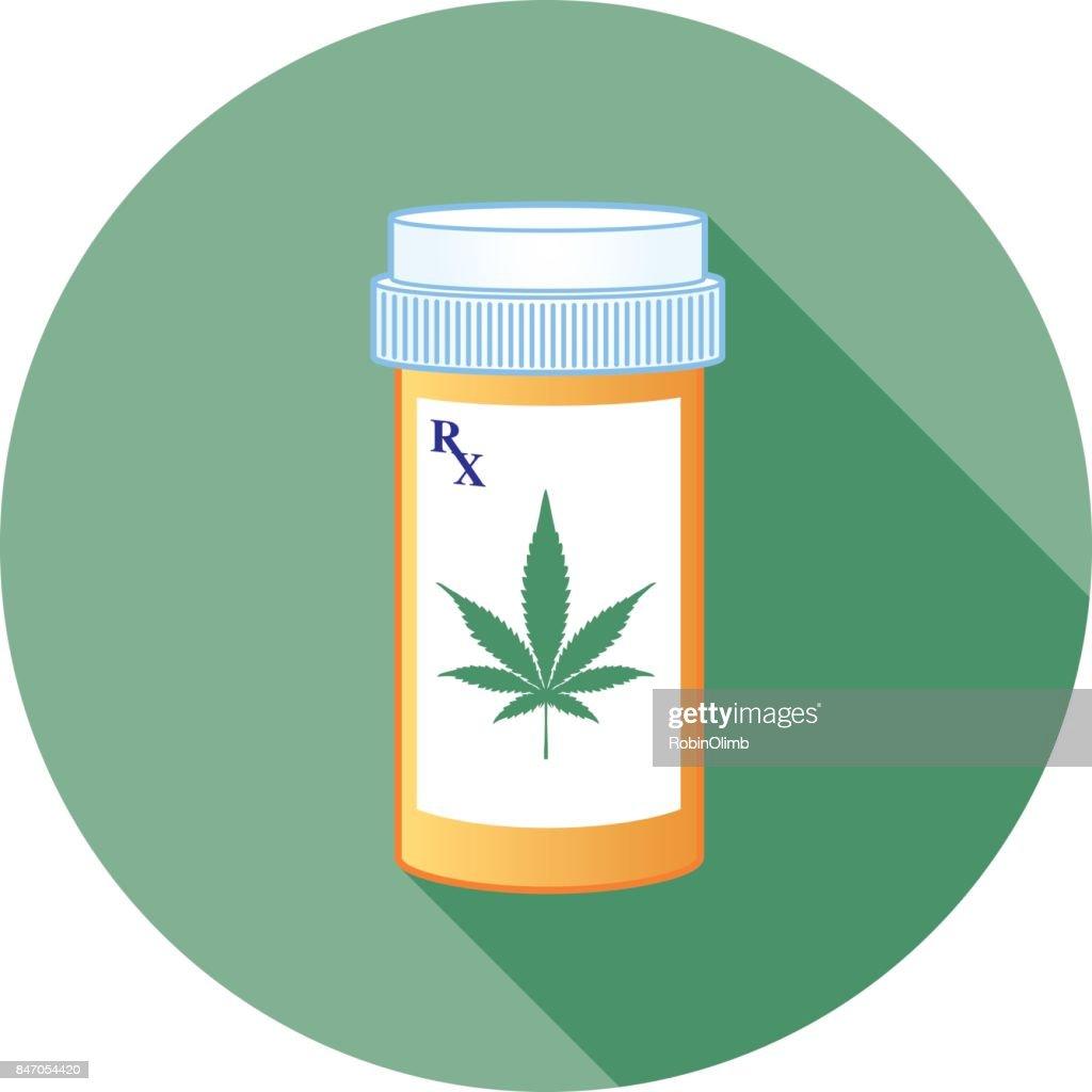Marijuana Prescription Bottle : stock illustration