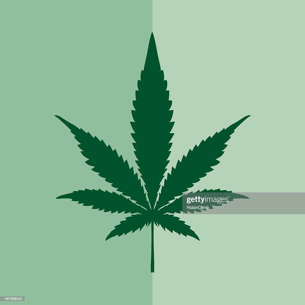 Marijuana Square Icon : stock illustration