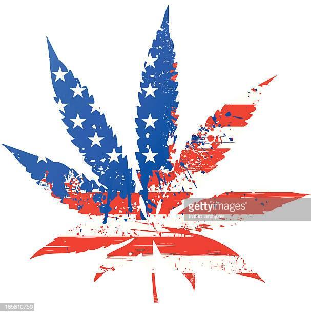 ilustraciones, imágenes clip art, dibujos animados e iconos de stock de marihuana-bandera de los estados unidos - fumar marihuana