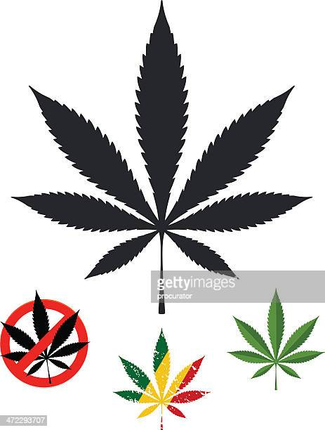 marijuana - marijuana leaf text symbol stock illustrations, clip art, cartoons, & icons