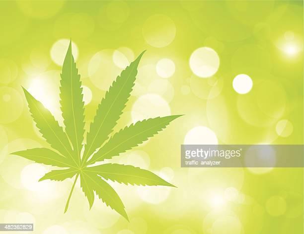 marijuana - cannabis plant stock illustrations, clip art, cartoons, & icons