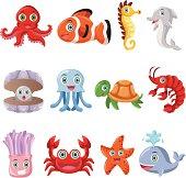 Marine animal icons