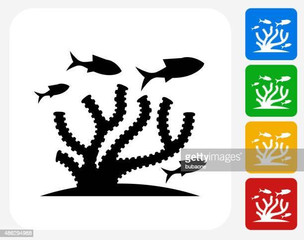 Marine Animals Icon Flat Graphic Design