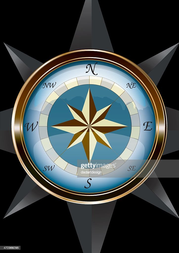 Marine Compass - vectorial