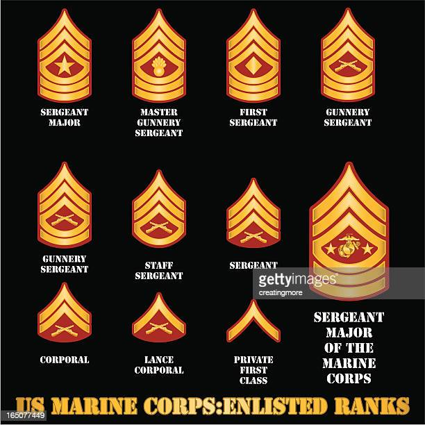 us marine corps enlisted ranks - marines military stock illustrations, clip art, cartoons, & icons