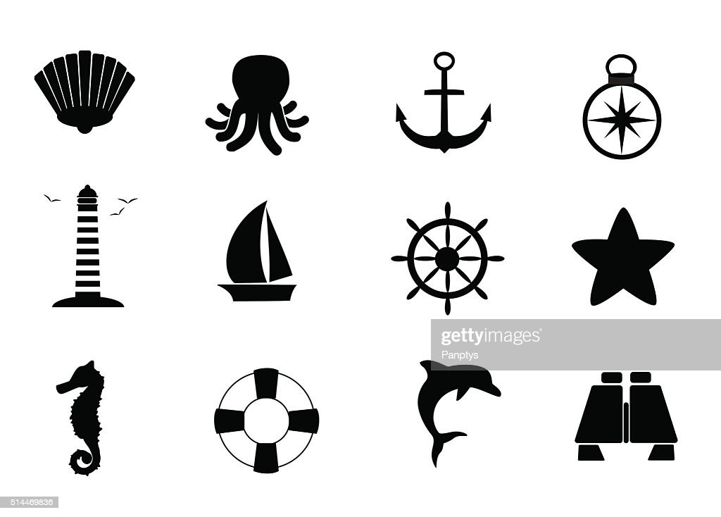 Marine icon set.