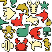 Marine Life Icons - Color Series