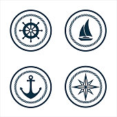 Marine logo set